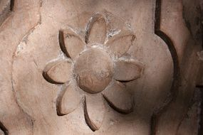 detail on the door in the form of a flower