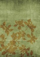 vintage textured Background with Flower Silhouette
