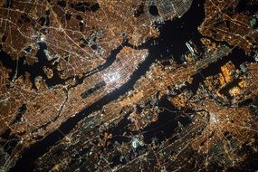 New York City satellite image