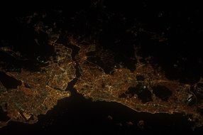 view from space to Istanbul