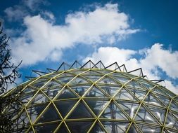 glass dome of the botanical garden in Dusseldorf