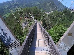 suspension bridge in tyrol