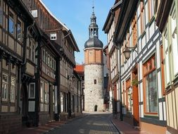 street of old town in Stolberg