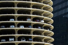 multi-level spiral parking in Chicago