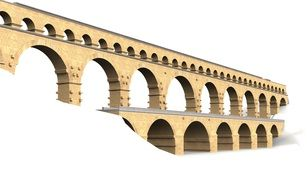 bridge in the form of arches on a white background
