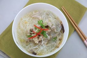 bowl of rice vermicelli