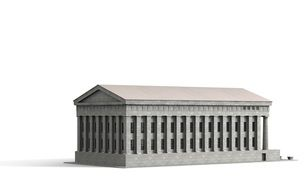 Federal Hall New York 3d drawing