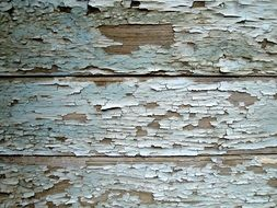 peeling paint on the wall