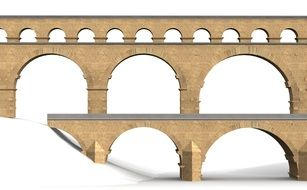 Building Pont du Gard in France