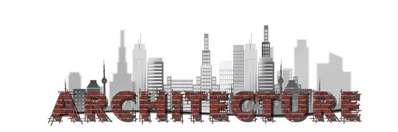 Architecture Skyline poster drawing