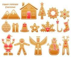 festive figures of ginger cookies
