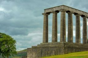 Scottish National Monument on the hill