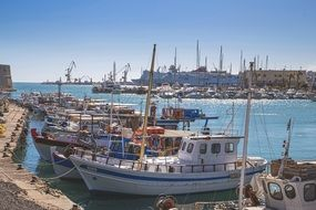ships in port in greece
