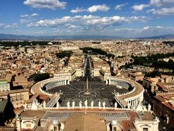 view of the vatican city