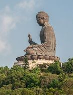 Giant bronze statue of Buddha Shakyamuni, china, hong kong
