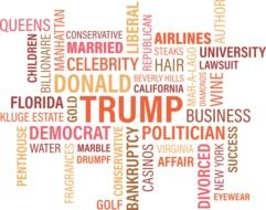 Donald Trump, colorful wordcloud