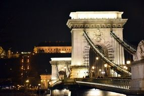 Chain Bridge in Budapest in Hungary