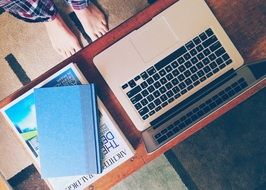 working place laptop and tablet