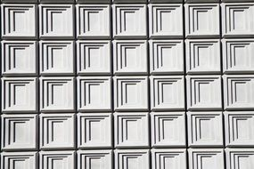 building facade gray pattern