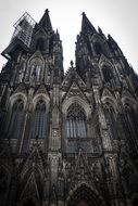 facade of black gothic beautiful church