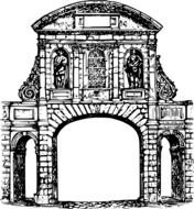 Arch Architecture drawing