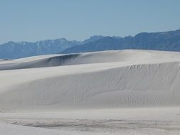 white sands landscape in America