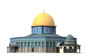 church with a golden dome of Jerusalem