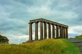 national monument on the hill in Scotland