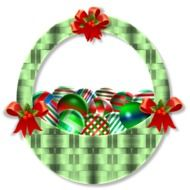 graphic image of a bright christmas basket