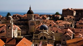 roofs of old houses in dubrovnik