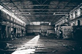 Lost Factory Locations monochrom foto
