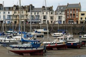 sailing boats in port in england