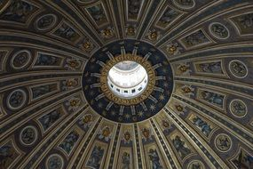 dome of St. Peters\' Basilica in Vatican