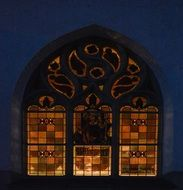 Colorful Evening Church Windows