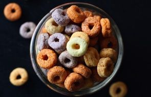 cereal in breakfast plate