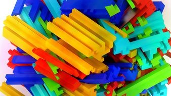colorful abstract constructor