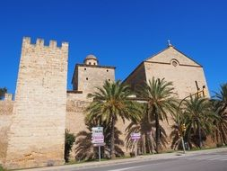 Sant Jaume church with a defensive tower