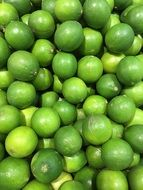 A lot of Green lemons