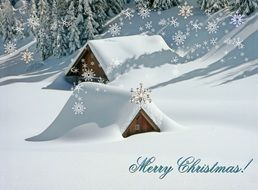 Merry Christmas nice greeting card