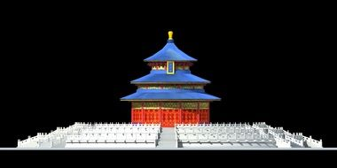 Heaven Temple in China 3d
