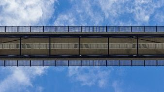 railway bridge against the sky