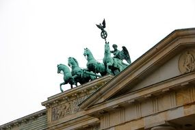 quadriga on the Berlin brandenburg gate