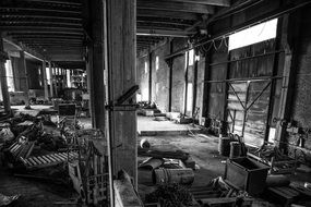 Empty Abandoned Factory Industrial