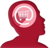 symbol of internet shopping