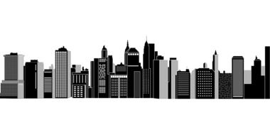 new york cityscape graphic drawing