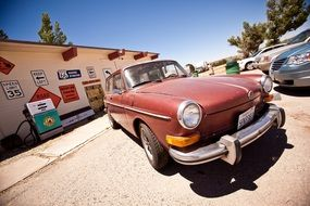 Picture of the petrol station in California