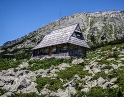 house on a rocky mountain