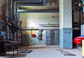 heating systems of dilapidated building