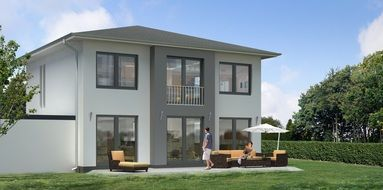 single family villa visualization 3d