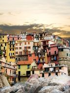 Cinque Terre Colorful Houses